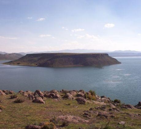 Blik auf Titicaca See