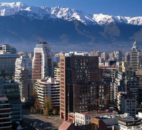 Hochhäuser Santiago de Chile
