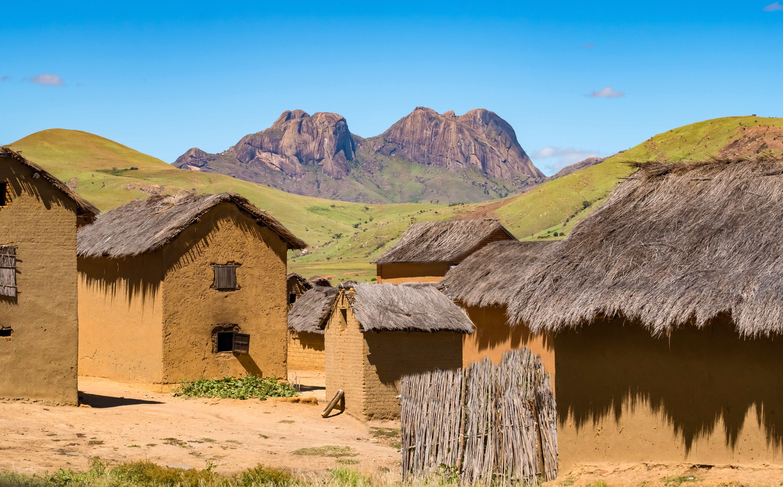 Dörfer von Bara nahe Isalo