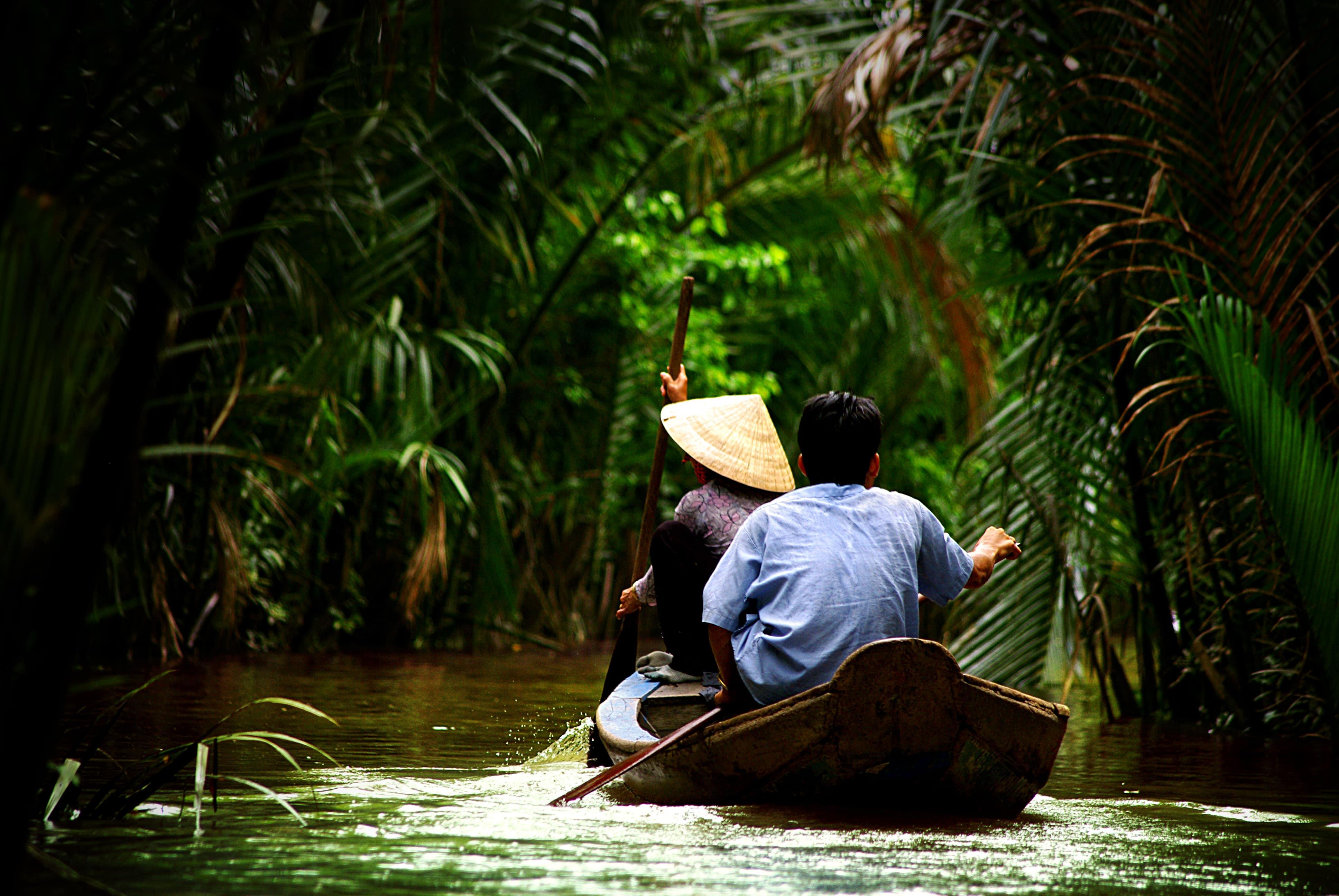 Boot im Mekong Delta